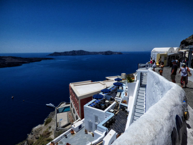 Santorini sailing greece Thira