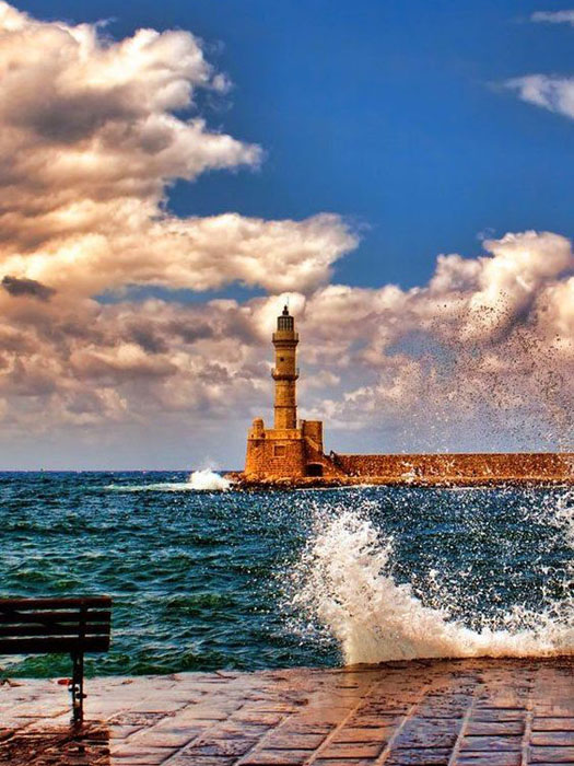 crete lighthouse hania crete