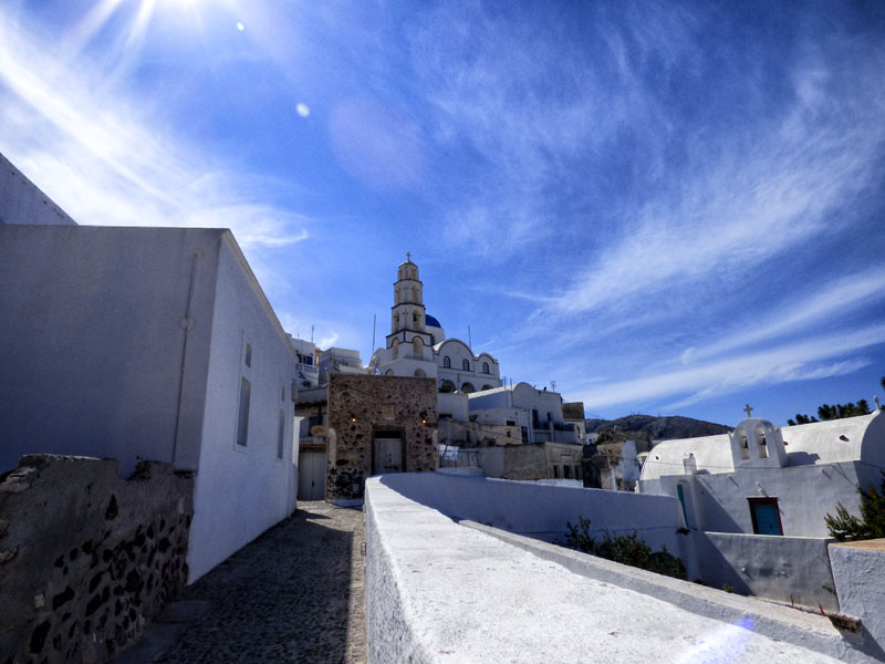 pyrgos santorini sailing greece
