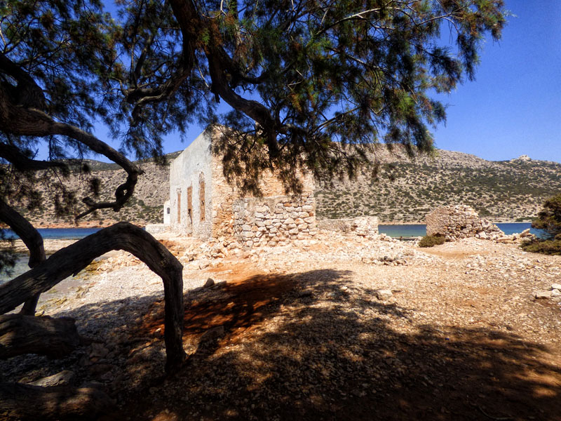 Ruined settlement on Alimia Greece