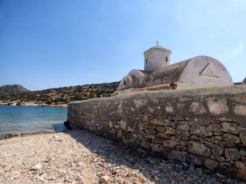 Old church in Alimia Greece