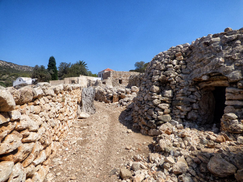 ruins of old settlement in Alimia Greece
