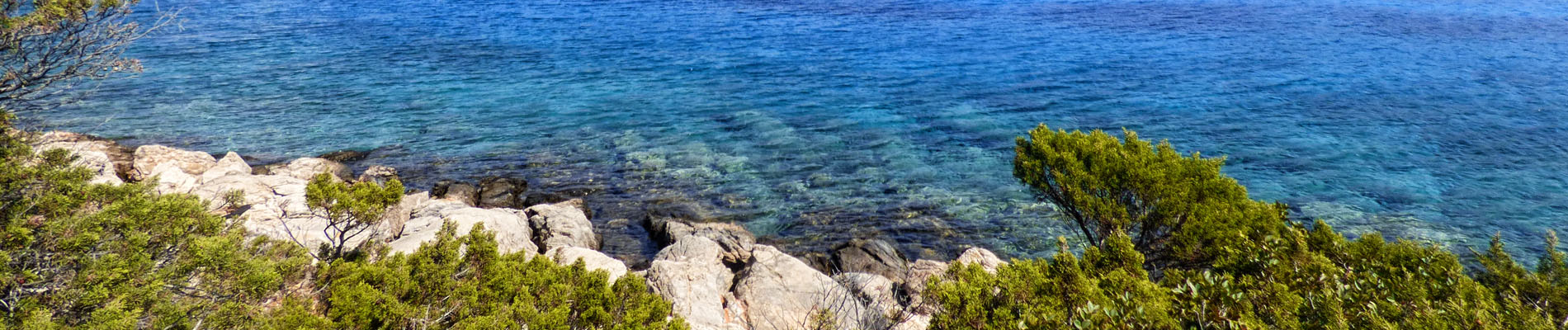 Blue waters of Alimia in Greece