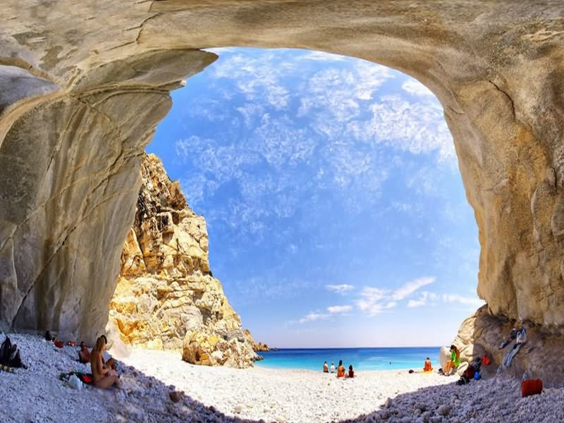 ikaria cave at the sea Messakti