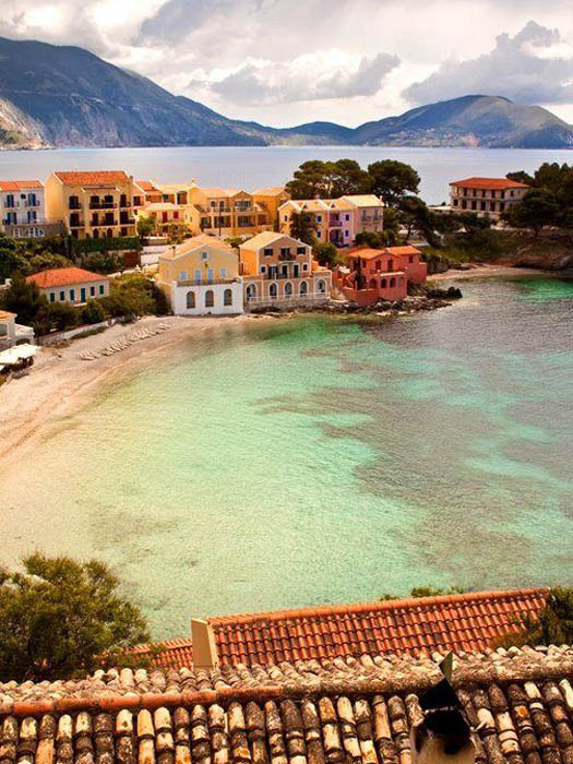 kefalonia village seaside