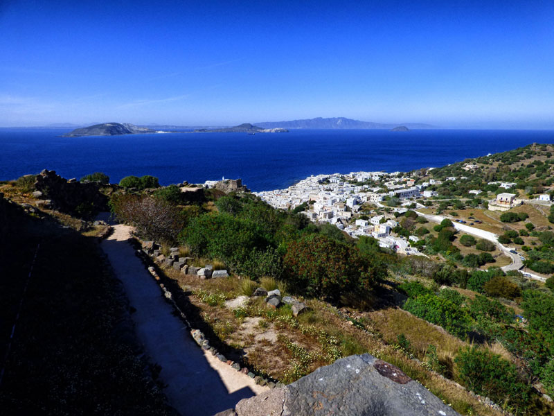 view from old castle Nisyros greece