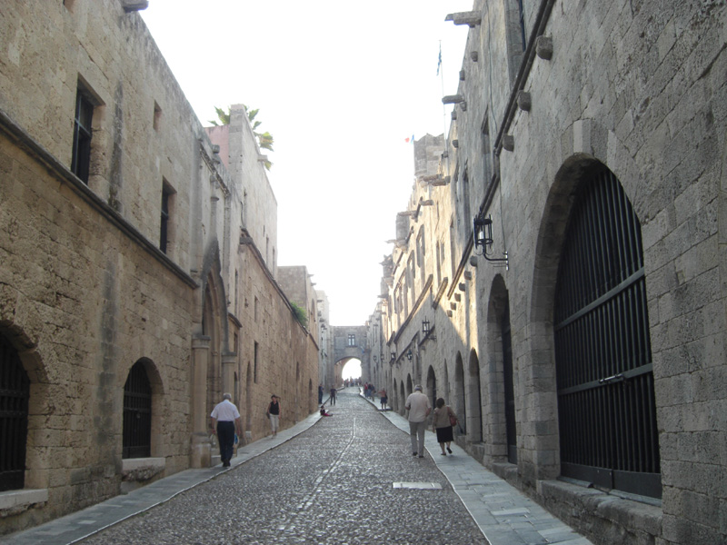 Rhodes greece street of the knights