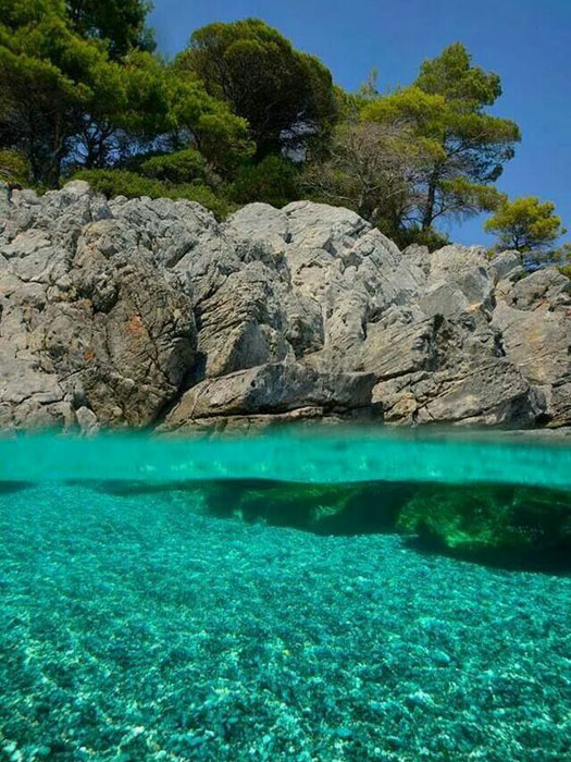 skopelos blue water